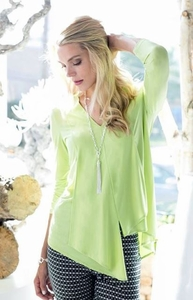Sharon Young #S17509TM Kiwi Tunic/Final Sale
