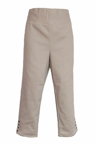 Simply Noelle #PNT104 Almond Cropped Snap Ankle Pant/Final Sale