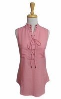 Simply Noelle #TOP100 Lace Up Grommet Watermelon Tank Top/Final Sale