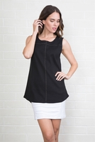 Simply Noelle #TOP102 Black Striking Stud Top/Final Sale