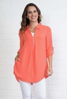 Simply Noelle #TOP103 Summer In The City Dk Watermelon Top/Final Sale