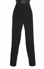 Slim Sation #M17716PM 360 Surround Comfort Black Ankle Pant/No Pockets
