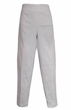Slim Sation #M17716PM 360 Surround Comfort White Ankle Pant/No Pockets