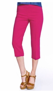 Slim Sation #M2603P Everyday Slim-Fit Cherry Capri/Back Pockets Only