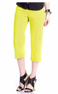 Slim Sation #M2603P Everyday Slim-Fit Soft Sun Capri/Back Pockets Only