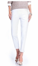 Slim Sation #M2604P Essential Modern Skinny White Pant/No Pockets