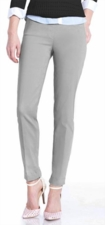 Slim Sation #M2623LG  Slim Form Light Grey Ankle Pant