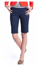 Slim Sation #M2632 Denim Walking Short/Front & Back Pockets/Final Sale
