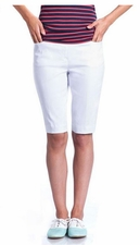 Slim Sation #M2632 White Walking Short/Front & Back Pockets