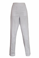 Slim Sation #M2684P Full Length Skinny Leg White Pant/Front Pockets
