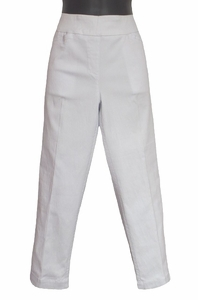 Slim Sation #M2687P White Crop Pant/Front Pockets