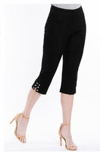Slim Sation #M27715PM Everyday Black Capri/Grommet Vented Sides