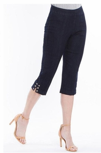 Slim Sation #M27715PM Everyday Denim Capri/Grommet Vented Sides