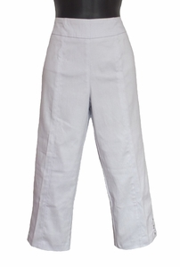 Slim Sation #M27715PM Everyday White Capri/Grommet Vented Sides