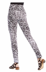 Slim Sation #M37703PM White/Black Animal Print Ankle Legging