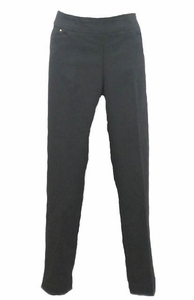 Slim Sation #M37710PM Black Ankle Pant/Front Pocket
