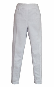Slim Sation #M9041P Sateen White Ankle Pant/Back Pockets/Final Sale
