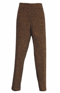 Slim Sation #M9113P Camel/Black Animal Print Pant