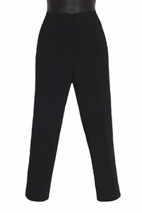 Slim Sation #M2687P Black Crop Pant/Front Pockets