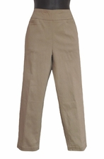 Slim Sation #M2687P Stone Crop Pant/Front Pockets