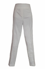 Thin Her #9800P Ivory Straight Leg Pant/Final Sale
