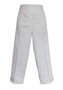Thin Her #9818P White Crop Pant