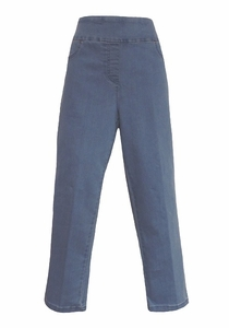 Thin Her #N07101PM Powder Blue Denim Crop Pant