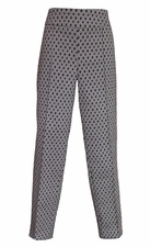 Thin Her #N17103PM Black/White Jacquard Ankle Pant