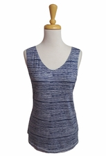 Tribal #21970-820 Deep Blue Reversible Tank Top/Final Sale