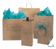 Brown Kraft Shopping Bags