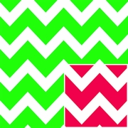 "Christmas Chevron / Reversible 24""x417'"