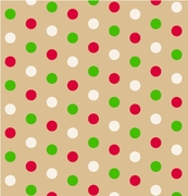 "Dotty Christmas / Kraft 24""x417'"