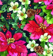 "Pinecones & Poinsettias 24""x417'"