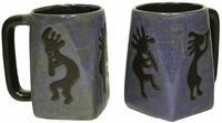 Mara Mug - Blue Kokopelli 12oz