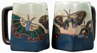 Mara Mug - Butterflies Blue 12oz