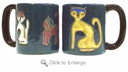Mara Mug - Cats-Blue 16oz