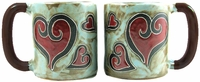 Mara Mug  - Hearts 16oz-Out of  Stock Until 02-27-19