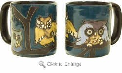 Mara Mug - Owls on Branch 16oz