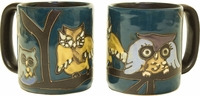 Mara Mug - Owls on Branch 16oz-out of stock until approximately early June