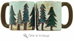 Mara Mug - Pine Trees 16oz
