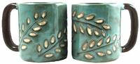Mara Mug  - Sage Leaves 16oz