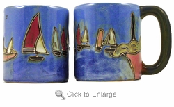 Mara Mug - Sail Boats 16oz