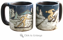 Mara Mug - Skiers 16oz-Out of Stock Until 11-27-19