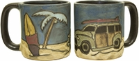 Mara Mug - Woody Surf Wagon 16oz