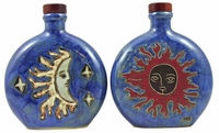 Mara Stoneware 20oz Round Decanter - Moon/Sun