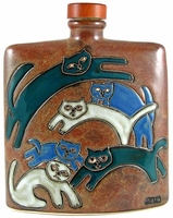 Mara Stoneware 24oz Square Decanter -Kitties