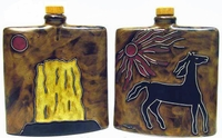 Mara Stoneware 24oz Square Decanter - Horse