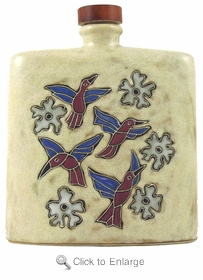 Mara Stoneware 24oz Square Decanter - Hummingbird Tan