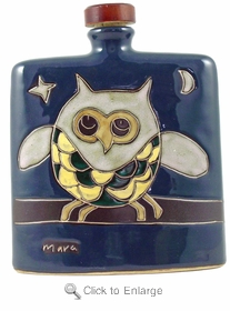 Mara Stoneware 24oz Square Decanter - Owl