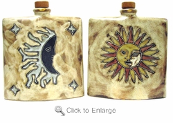 Mara Stoneware 24oz Square Decanter - Sun/Moon